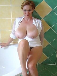 Pregnant mega boobs bbw toying