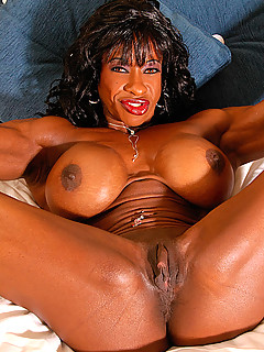 Women Muscle Black Nude#3